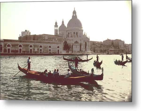 Santa Maria Della Salute Grand Canal Venice Metal Print