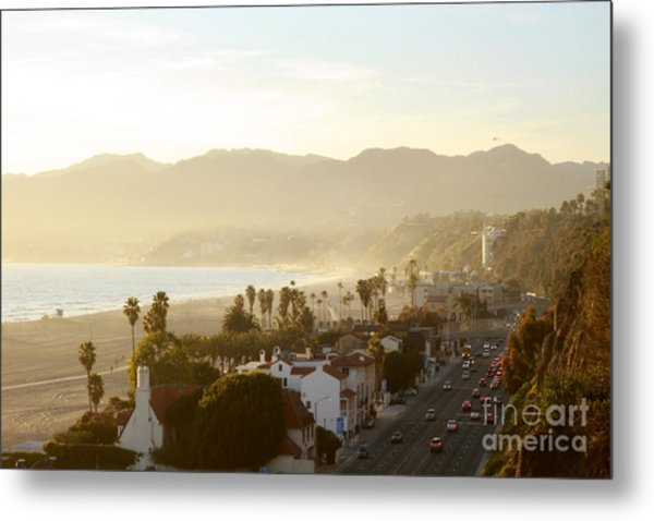 Santa Monica Beach Metal Print by Yulia Bekar
