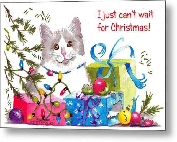 Santa's Helper Greetings Metal Print