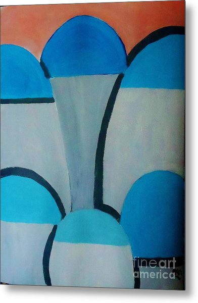 Sardinia Greece An Abstract Metal Print by Marie Bulger