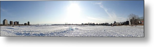 Sarnia Bay In Winter Metal Print