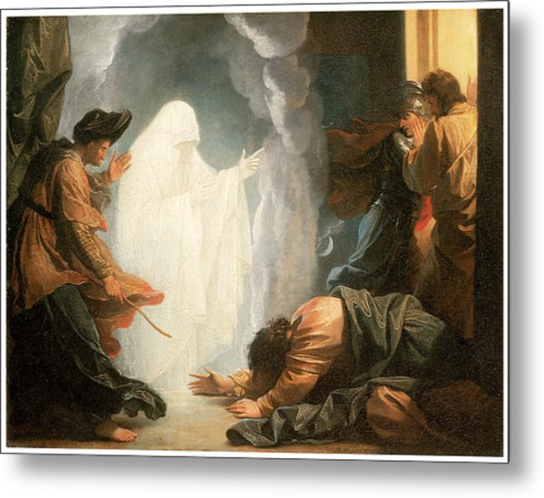 Saul And The Witch Of Endor Metal Print by Benjamin West