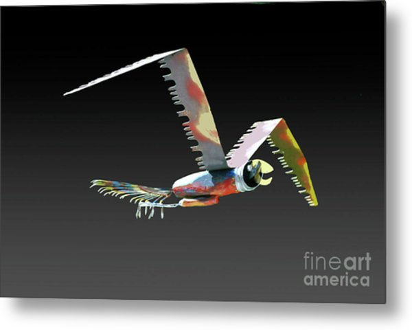Saw Bird Metal Print