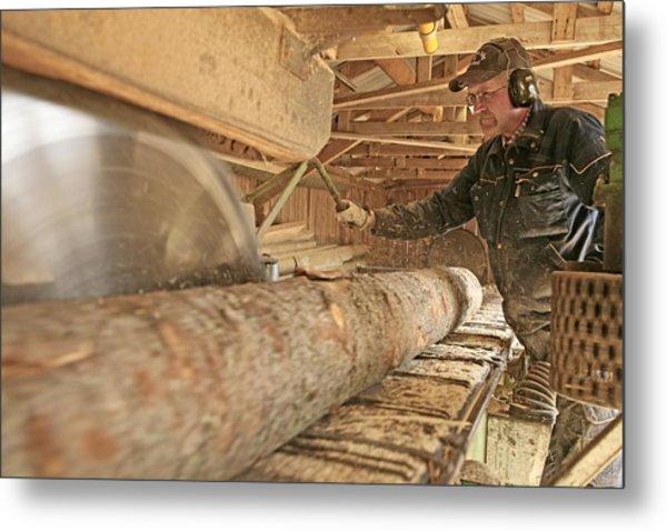 Sawmill Metal Print by Bjorn Svensson