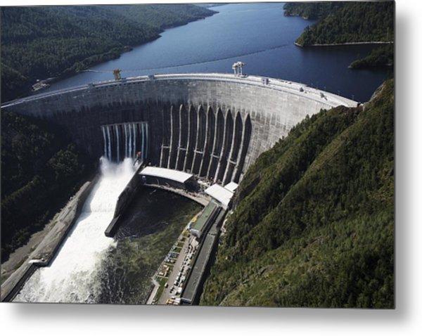 Sayano-shushenskaya Hydroelectric Dam Metal Print by Ria Novosti
