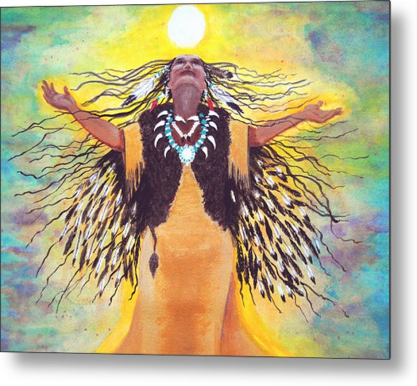 Saying Good Morning To The Sun Metal Print by Vallee Johnson