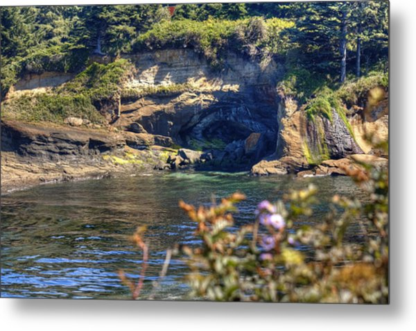 Scene At Boiler Bay Metal Print by Chris Anderson