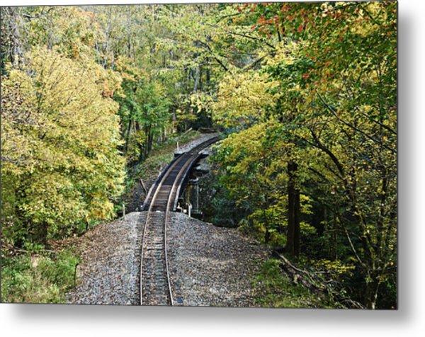 Scenic Railway Tracks Metal Print