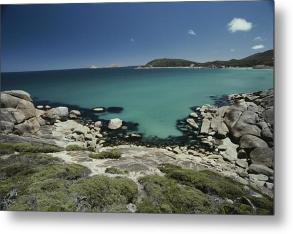 Scenic View Of A Bay At Wilsons Metal Print