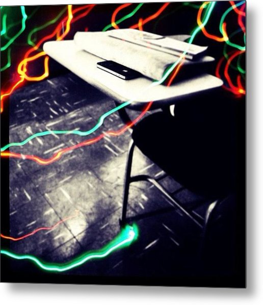#school #class #apple #phone #iphone Metal Print