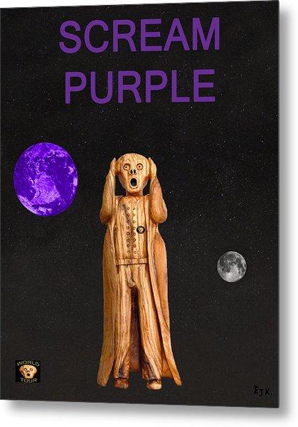 Scream Purple Metal Print by Eric Kempson