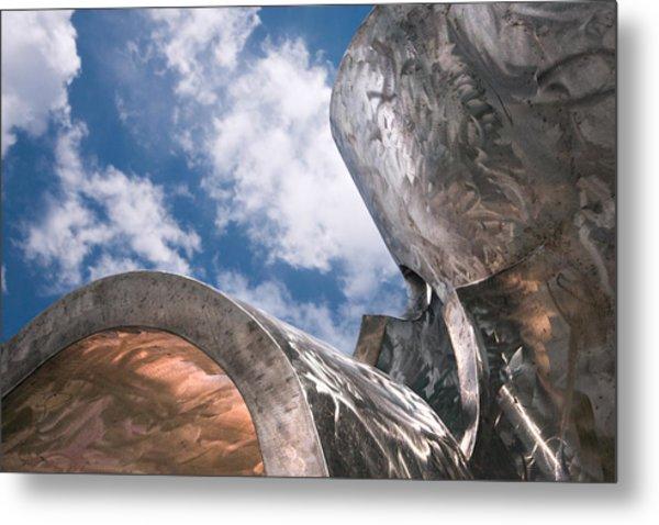 Sculpture And Sky Metal Print