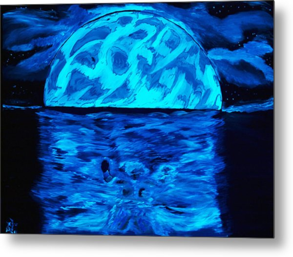 Sea Of Troubles Black Light Metal Print