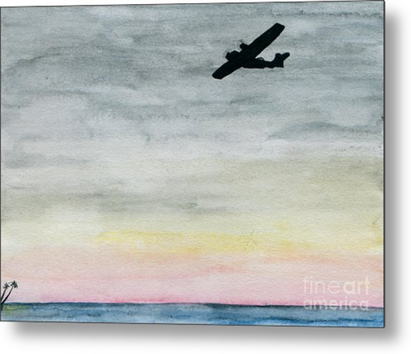 Searching The Tropics - Pby Catalina On Patrol Metal Print by R Kyllo