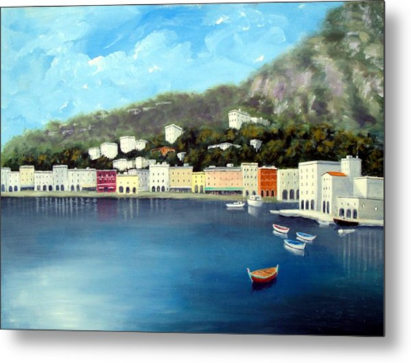 Seaside Town Metal Print