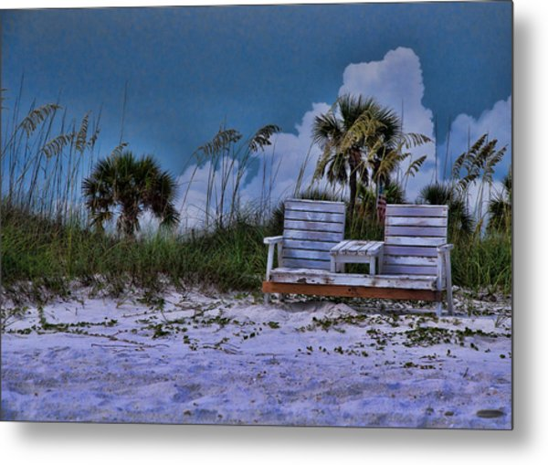Seat On The Dunes Metal Print