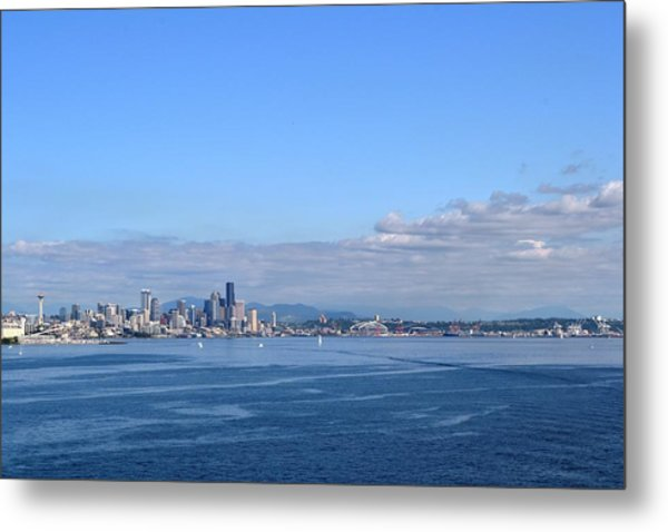 Seattle Skyline 4 Metal Print