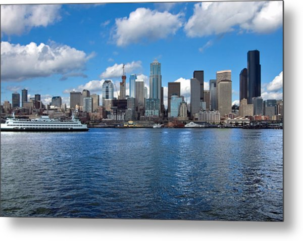 Seattle Skyline Metal Print by Richard Leon