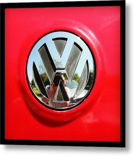 See Me? #car #badge #carbadge Metal Print