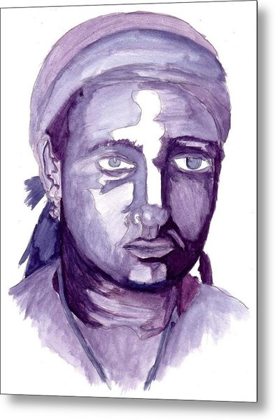 Self Portrait At 19 Metal Print by Cecelia Taylor-Hunt