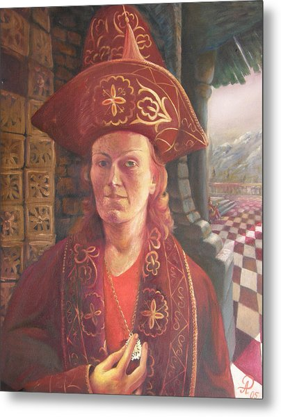 Self-portrait In A Kazakh Costume Metal Print