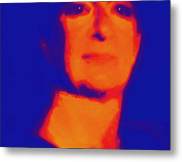 Self Portrait On Fire For The Future Metal Print by Carolina Liechtenstein
