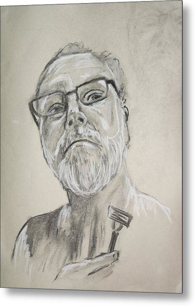 Self Portrait Metal Print by Peter Edward Green