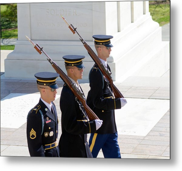 Sentinels At The Tomb Metal Print