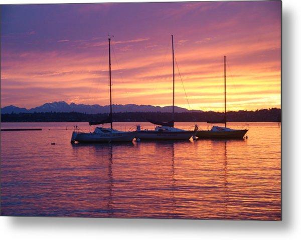 Serene Sunset Metal Print