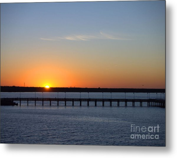 Setting Sun Metal Print by Arthur Herold Jr