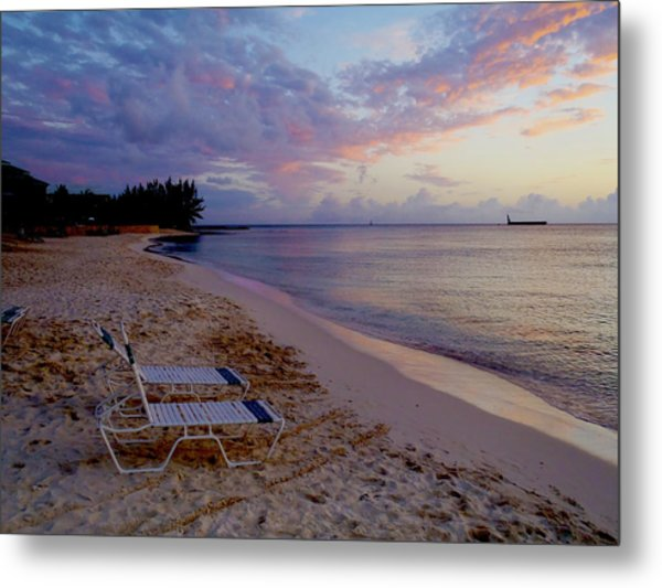 Seven Mile Beach Sunset Metal Print