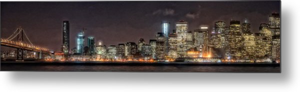 Sfo At Nite Metal Print by Gary Rose