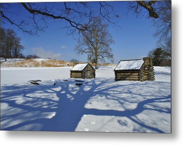 Shadow In The  Valley Forge Metal Print by Gaetano Chieffo