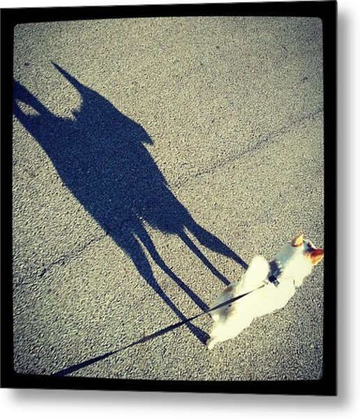 #shadow #puppy #dog #abstract Metal Print