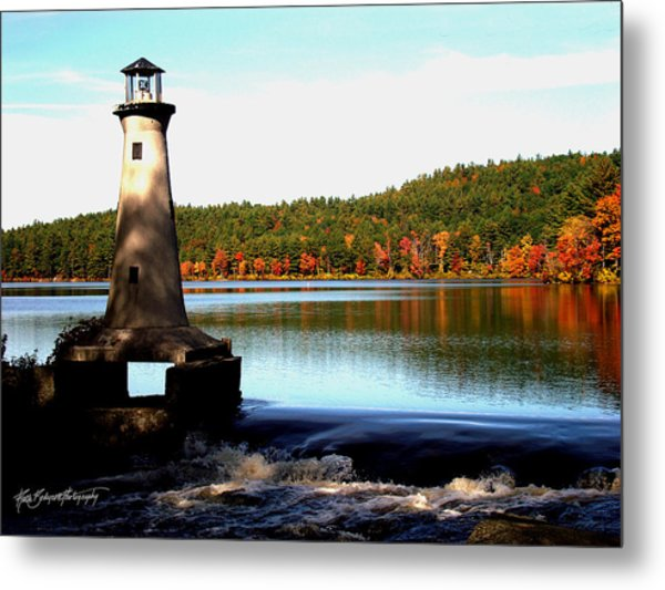 Shadows And A Lighthouse Metal Print by Ruth Bodycott