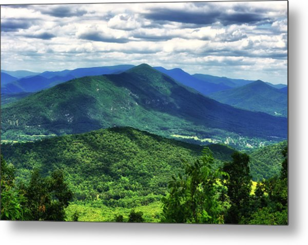 Shadows On The Mountains Metal Print