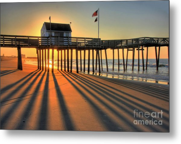 Shadows On The Shore Metal Print
