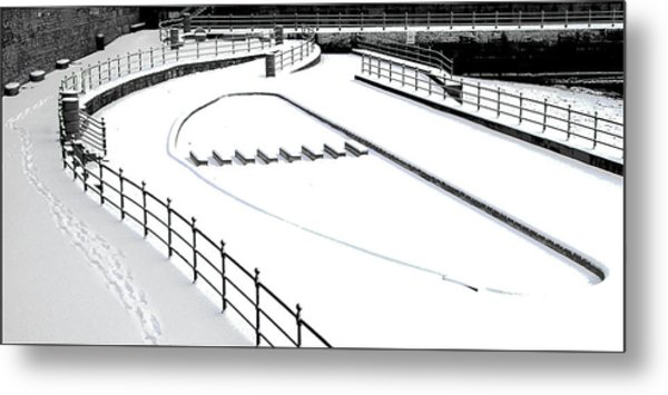 Shapes In The Snow Metal Print by Barry Hayton