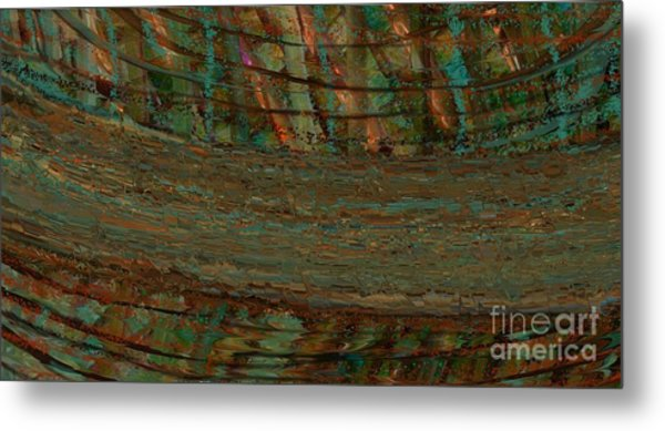 Shattered Abstract Metal Print by Michelle Lee