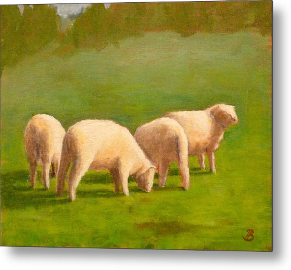 Sheep Shapes Metal Print