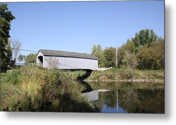 Sheffield Covered Bridge Metal Print