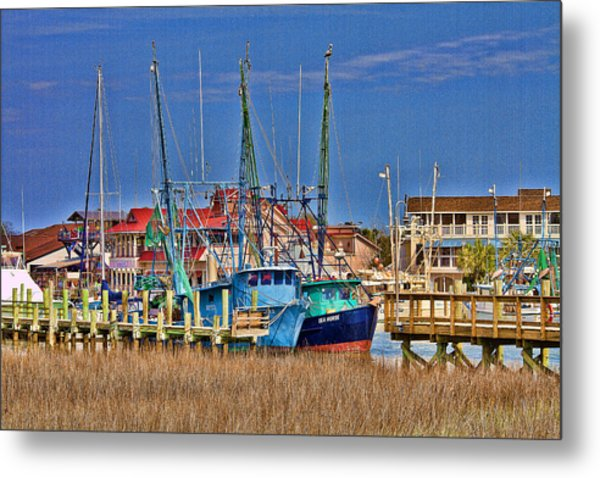 Shem Creek Shrimpers Metal Print
