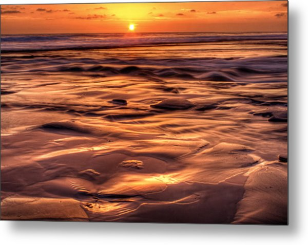 Shifting Sand And Shoreline Metal Print by Donna Pagakis