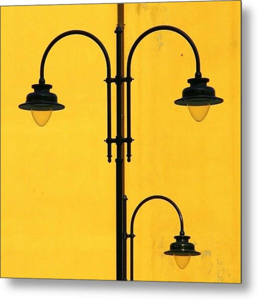 Shine On.. #italy #lamppost Metal Print