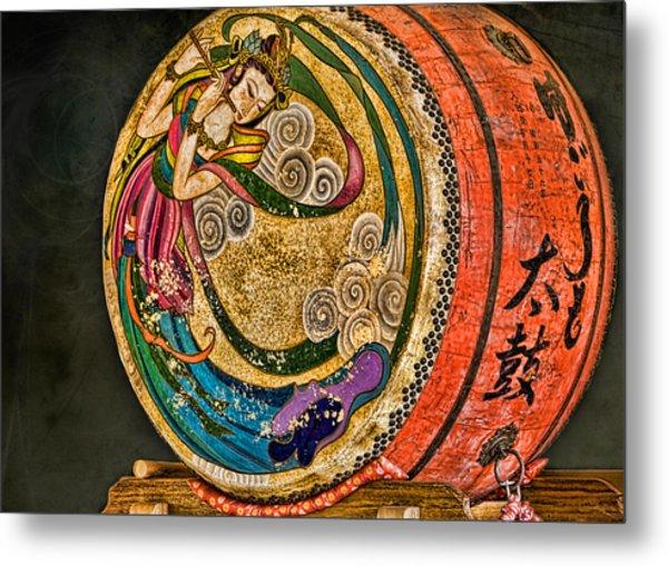 Shinto Drum Metal Print by Karen Walzer
