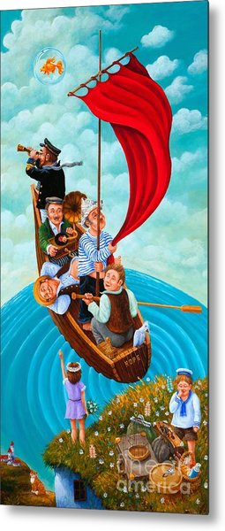 Ship Of Fools Metal Print by Igor Postash
