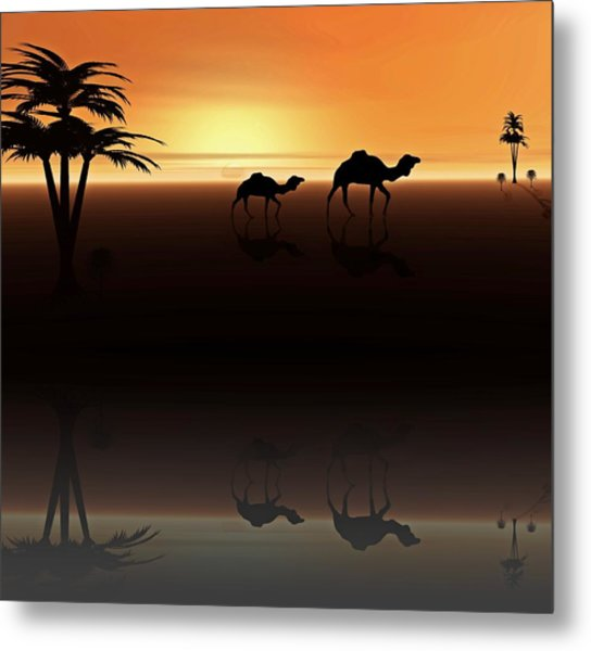 Ships Of The Desert Metal Print