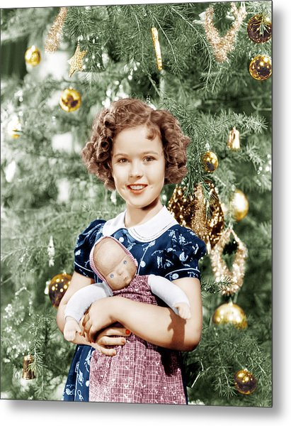 Shirley Temple Holding Doll Metal Print by Everett