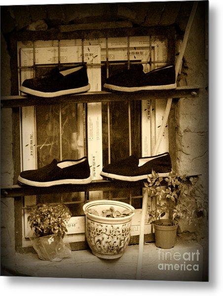 Shoes Metal Print by James Yang