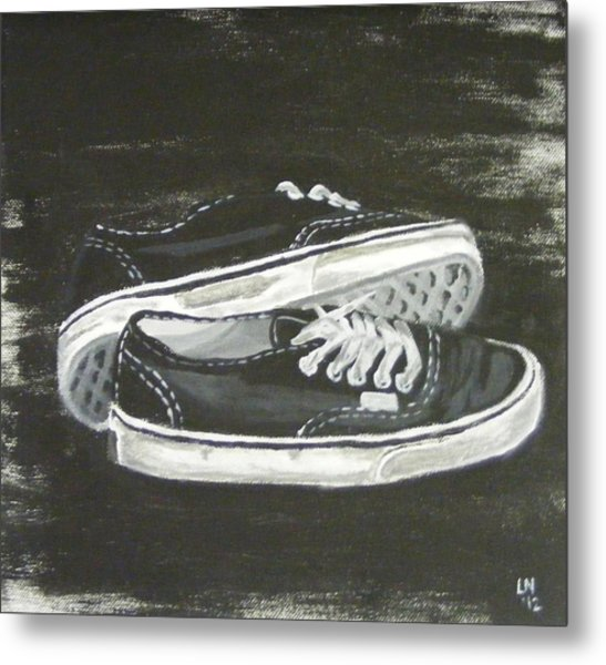 Shoes Metal Print by Laura Evans
